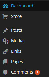 how to add pictures a menu page wordpress